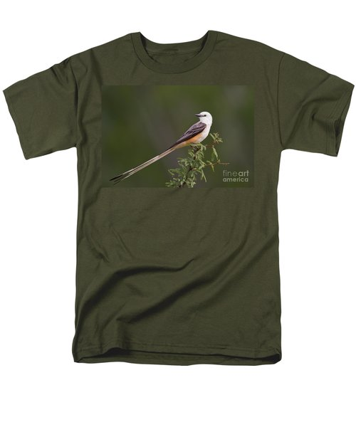 Male Scissor-tail Flycatcher Tyrannus Forficatus Wild Texas Men's T-Shirt  (Regular Fit) by Dave Welling