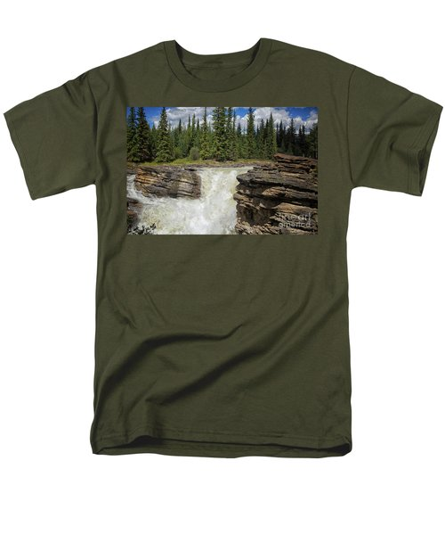 Men's T-Shirt  (Regular Fit) featuring the photograph Maligne Canyon by Patricia Hofmeester