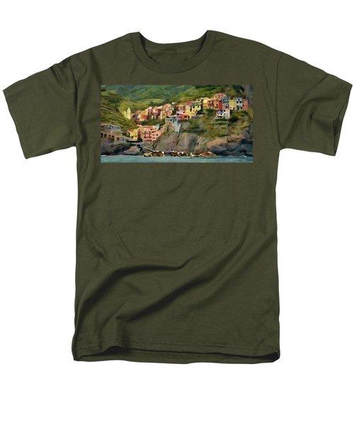 Men's T-Shirt  (Regular Fit) featuring the painting Manarola by Jeff Kolker