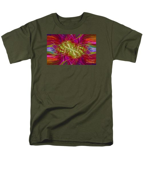 Men's T-Shirt  (Regular Fit) featuring the photograph Mandala Swirl 02 by Jack Torcello