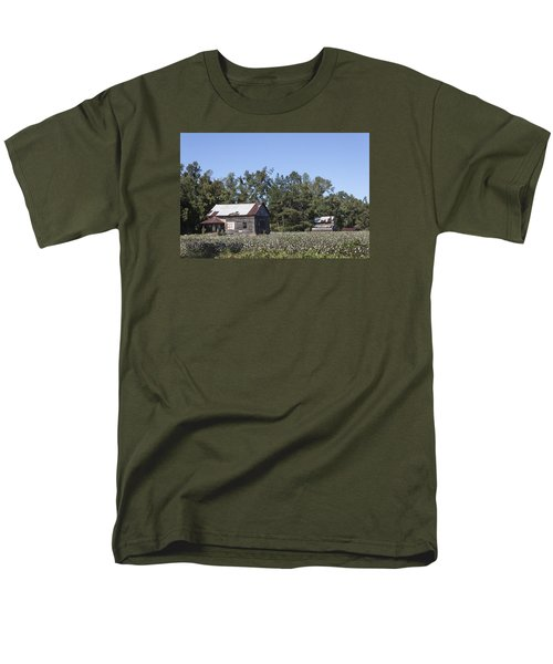 Manning Cotton Field With Barns Men's T-Shirt  (Regular Fit) by Suzanne Gaff