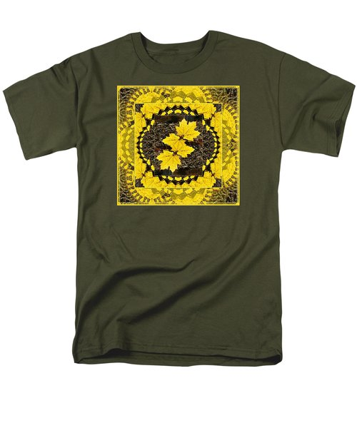 Maple Leaf Design Men's T-Shirt  (Regular Fit) by Joy Nichols