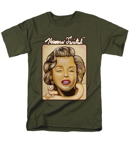 Marilyn In Gold Nt Men's T-Shirt  (Regular Fit) by Norman Twisted