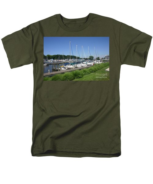 Marina On Black River Men's T-Shirt  (Regular Fit)