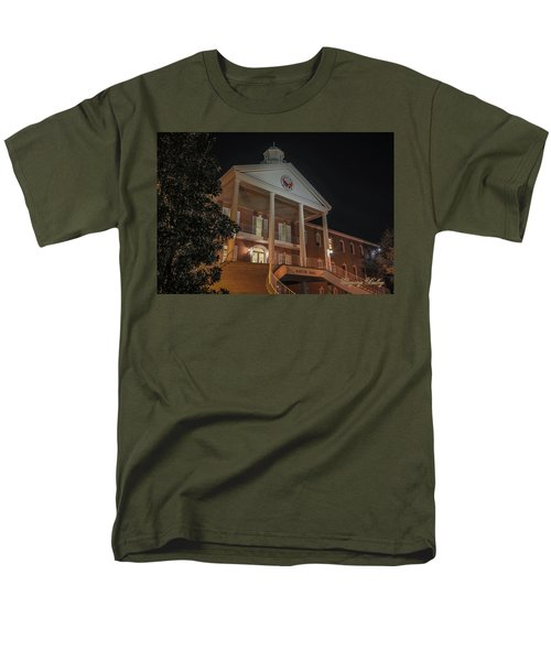 Men's T-Shirt  (Regular Fit) featuring the photograph Martin Hall Night 01 by Gregory Daley  PPSA