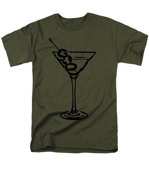 Martini Glass Tee Men's T-Shirt  (Regular Fit) by Edward Fielding