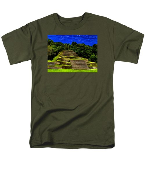 Men's T-Shirt  (Regular Fit) featuring the photograph Mayan Temple by Ken Frischkorn