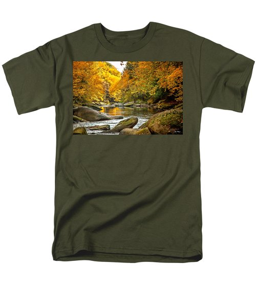 Mcconnell's Mill State Park Men's T-Shirt  (Regular Fit) by Skip Tribby