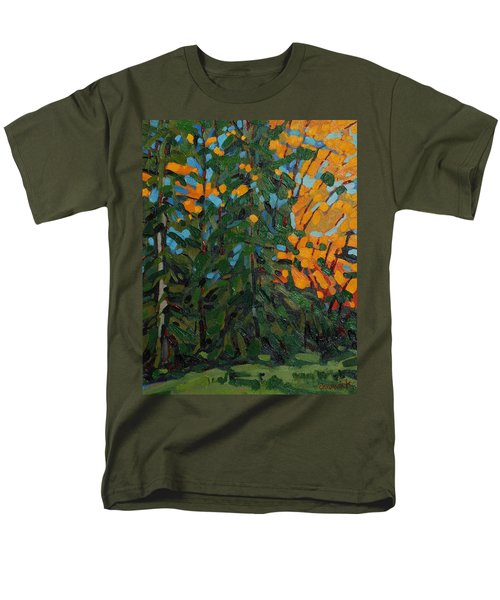Mcmichael Forest Wall Men's T-Shirt  (Regular Fit) by Phil Chadwick