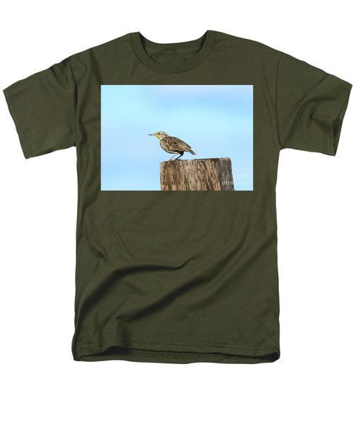 Meadowlark Roost Men's T-Shirt  (Regular Fit) by Mike Dawson