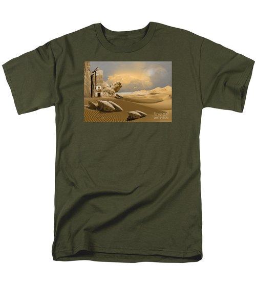 Men's T-Shirt  (Regular Fit) featuring the digital art Meditation Place by Alexa Szlavics