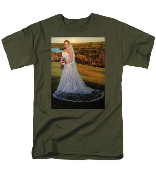 Men's T-Shirt  (Regular Fit) featuring the painting Melissa by Alan Lakin