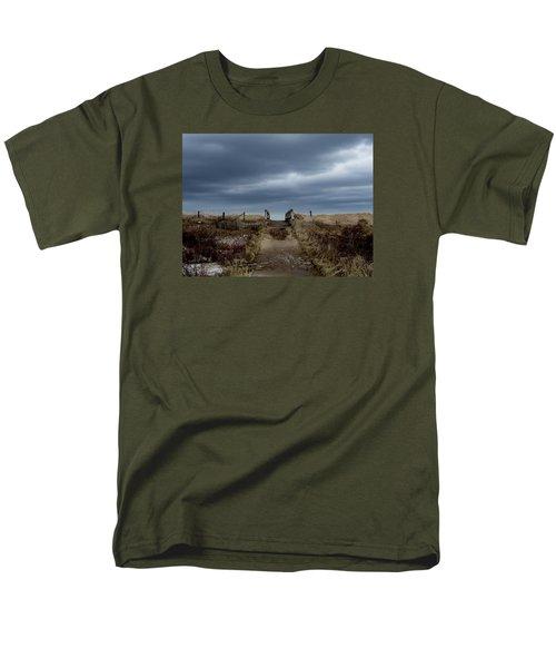 Men's T-Shirt  (Regular Fit) featuring the photograph Melmerby Beach Boardwalk by Kathleen Sartoris