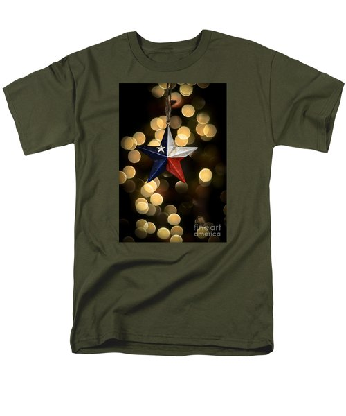 Men's T-Shirt  (Regular Fit) featuring the photograph Merry Christmas Texas by Kelly Wade