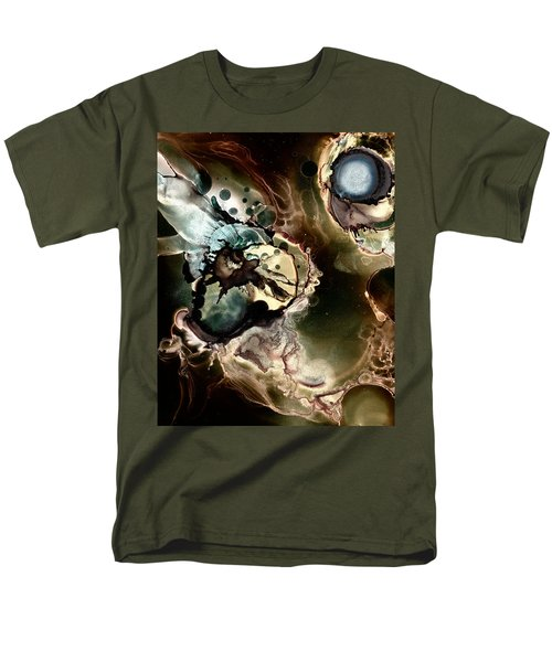 Men's T-Shirt  (Regular Fit) featuring the painting Metallic Nebula by Patricia Lintner