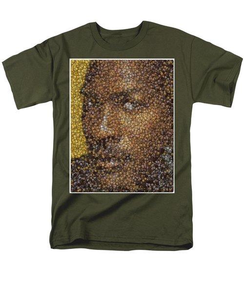 Men's T-Shirt  (Regular Fit) featuring the digital art Michael Jordan Money Mosaic by Paul Van Scott