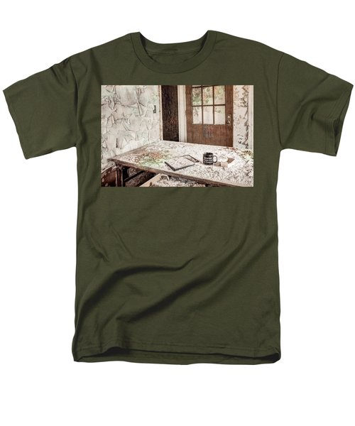Men's T-Shirt  (Regular Fit) featuring the photograph Midlife Crisis In Progress - Abandoned Asylum by Gary Heller