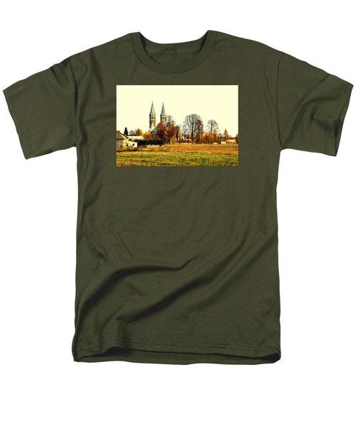 Miedzierza Church Men's T-Shirt  (Regular Fit) by Henryk Gorecki