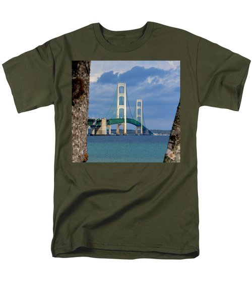 Mighty Mac Framed By Trees Men's T-Shirt  (Regular Fit) by Keith Stokes