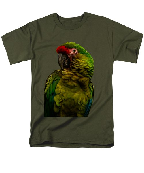 Military Macaw Men's T-Shirt  (Regular Fit) by Zina Stromberg