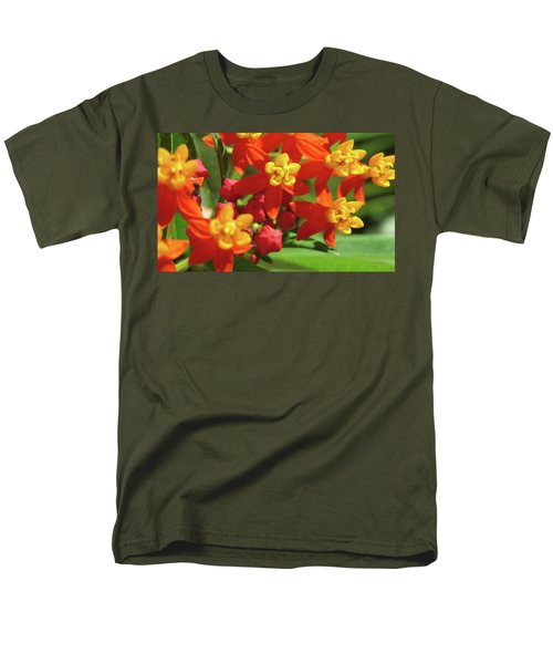 Milkweed Flowers Men's T-Shirt  (Regular Fit) by Melinda Saminski
