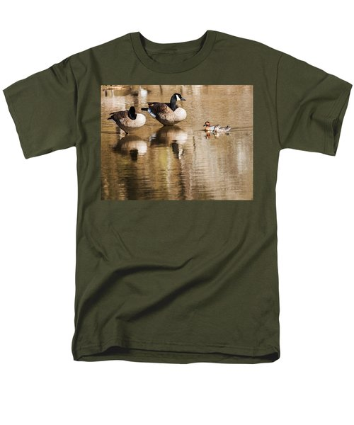 Men's T-Shirt  (Regular Fit) featuring the photograph Millards And Green-wing Teal by Edward Peterson