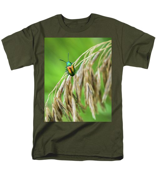 Men's T-Shirt  (Regular Fit) featuring the photograph Mini Metallic Magnificence  by Bill Pevlor
