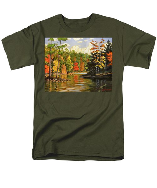 Mink Lake Narrows Men's T-Shirt  (Regular Fit) by David Gilmore