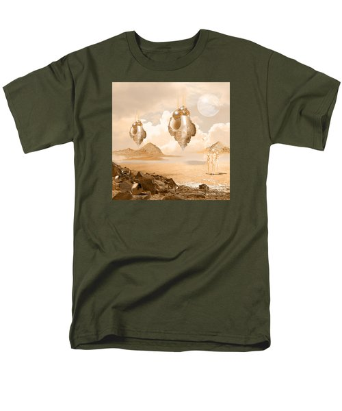 Men's T-Shirt  (Regular Fit) featuring the digital art Mission In A Far Planet by Alexa Szlavics