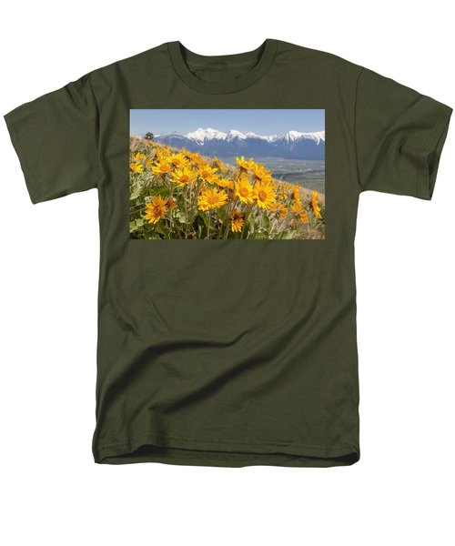Mission Mountain Balsam Blooms Men's T-Shirt  (Regular Fit) by Jack Bell