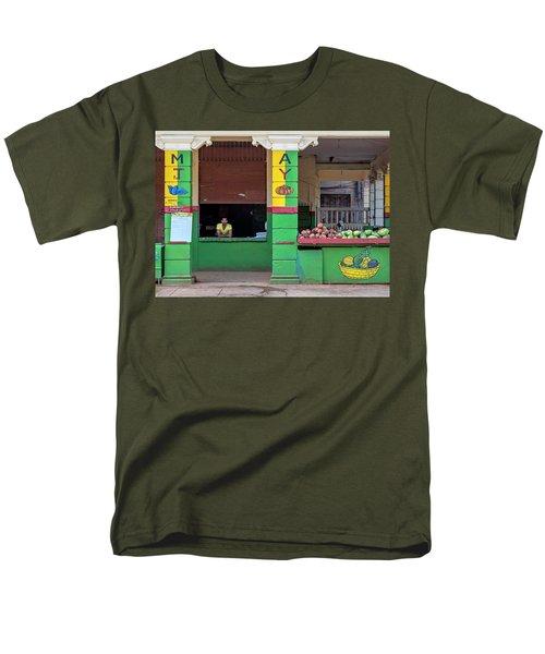 Mjay Fruit Stand Havana Cuba Men's T-Shirt  (Regular Fit) by Charles Harden