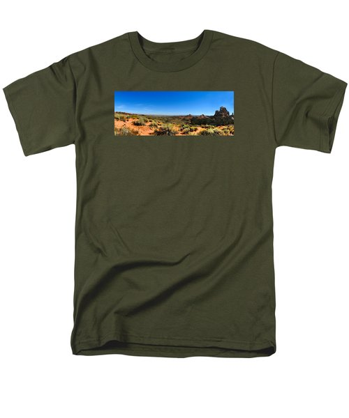 Moab Retrospective Men's T-Shirt  (Regular Fit) by Laura Ragland