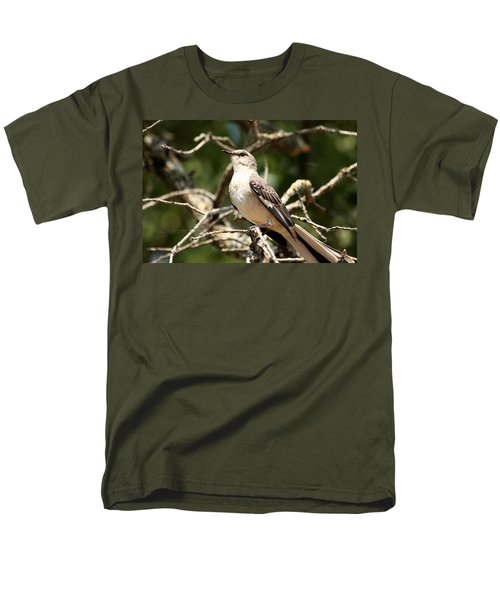 Men's T-Shirt  (Regular Fit) featuring the photograph Mockingbird  by Sheila Brown