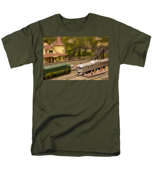 Men's T-Shirt  (Regular Fit) featuring the photograph Model Trains by Patrice Zinck
