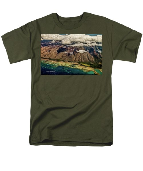 Molokai From The Sky Men's T-Shirt  (Regular Fit) by Joann Copeland-Paul