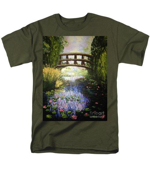 Monet's Bridge Men's T-Shirt  (Regular Fit)