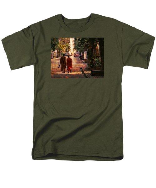 Men's T-Shirt  (Regular Fit) featuring the digital art Monk Mates by Cameron Wood