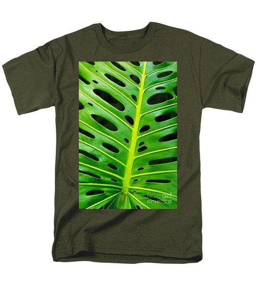 Monstera Leaf Men's T-Shirt  (Regular Fit) by Carlos Caetano