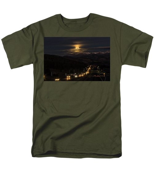Moon Over Genessee Men's T-Shirt  (Regular Fit) by Kristal Kraft