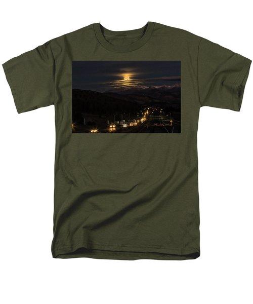 Moon Over Genessee Men's T-Shirt  (Regular Fit)