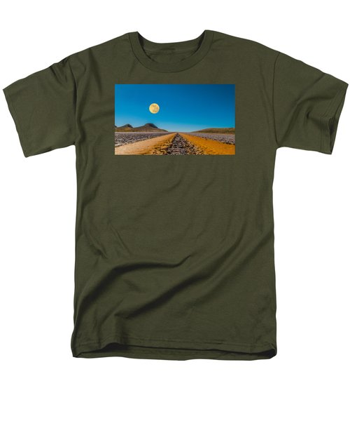 Moonrise Wyoming Men's T-Shirt  (Regular Fit) by Don Spenner