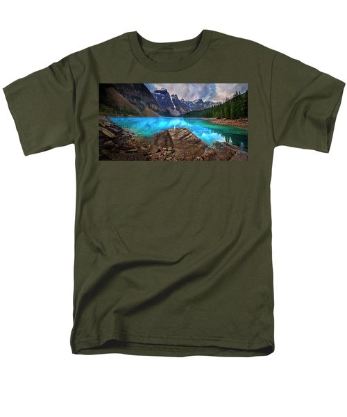 Men's T-Shirt  (Regular Fit) featuring the photograph Moraine Lake by John Poon