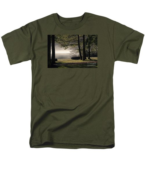 Men's T-Shirt  (Regular Fit) featuring the photograph Morning Fog by Inge Riis McDonald