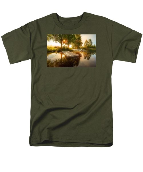 Men's T-Shirt  (Regular Fit) featuring the photograph Morning Light by Rose-Maries Pictures