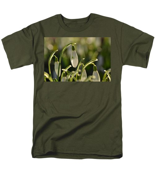 Morning Snowdrops Men's T-Shirt  (Regular Fit) by JD Grimes