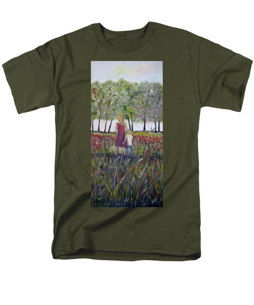 Men's T-Shirt  (Regular Fit) featuring the painting Mother And Son by Marilyn  McNish