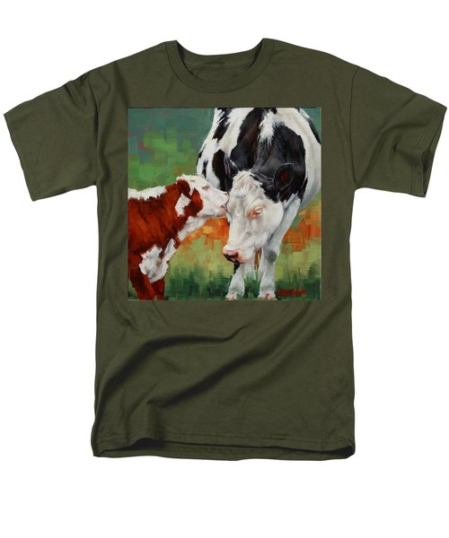 Men's T-Shirt  (Regular Fit) featuring the painting Mothers Little Helper by Margaret Stockdale