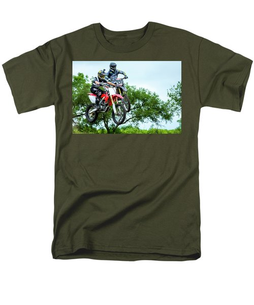 Men's T-Shirt  (Regular Fit) featuring the photograph Motocross Battle by David Morefield