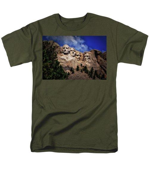 Mount Rushmore 008 Men's T-Shirt  (Regular Fit) by George Bostian