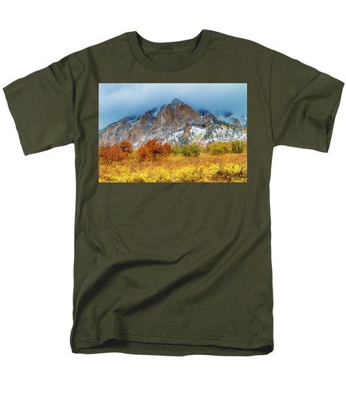 Mountain Autumn Color Men's T-Shirt  (Regular Fit) by Teri Virbickis